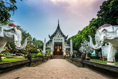 Wat Lok Moli tempel i Chiang Mai Royaltyfria Bilder