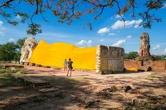 Wat Lokaya Sutha à Ayutthaya Photos libres de droits