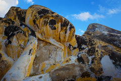 Wat Lokayasutharam寺庙的斜倚的菩萨在Ayuthaya历史公园在泰国 图库摄影