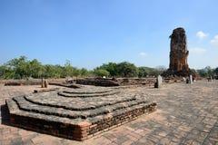 Wat Lokkayasutharam, Ayutthaya Stockbilder
