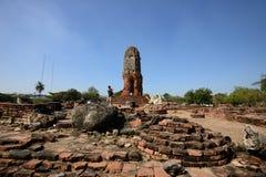 Wat Lokkayasutharam, Ayutthaya Lizenzfreies Stockfoto