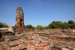 Wat Lokkayasutharam, Ayutthaya Stockbild