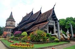 Wat Lokmolee Chiang Mai Thailand Arkivfoto