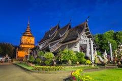 Wat Lokmolee Famous Temple di ChiangMai, Tailandia Immagine Stock