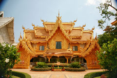 Wat Long Khun Chiang Rai Thailand Stockbild