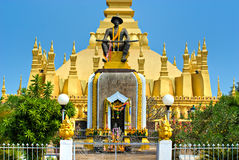 Wat That Luang, Laos. Stock Photos