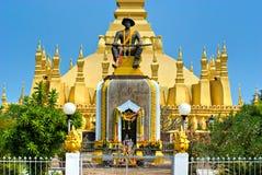 Wat That Luang, Laos. Stock Photos