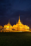 Wat Luang Pho Toh temple in night time at Nakhon Ratchasima prov Royalty Free Stock Image
