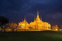 Wat Luang Pho Toh temple in night time at Nakhon Ratchasima prov Royalty Free Stock Photo