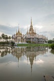 Wat Luang Pho Toh temple with water reflection at Nakhon Ratchas Stock Photos