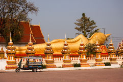 Wat That Luang Tai Vientiane, Laos Royaltyfria Foton