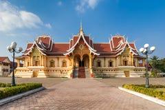 Wat That Luang Tai in Vientine, Laos Stock Afbeelding