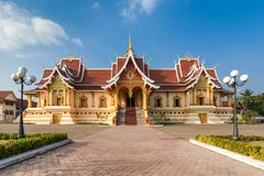Wat That Luang Tai in Vientine, Laos stock image