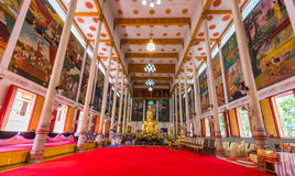 Wat Luangporto. Luang Pho Wat Pho temple in the Grand Hall of the Great Phuttharam. A rock the size of a doll, but instead went to the temple by holding back royalty free stock photo
