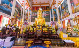 Wat Luangporto. Luang Pho Wat Pho temple in the Grand Hall of the Great Phuttharam. A rock the size of a doll, but instead went to the temple by holding back stock photos