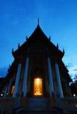 Wat Lum na noite Imagens de Stock