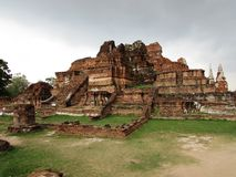 Wat Maha That. Ayutthaya Thailand Royalty Free Stock Photo