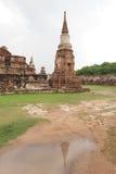 Wat Maha That, Ayutthaya, Thailand. Pagoda and the reflection at Wat Maha That (Temple of the Great Relics), a Buddhist temple in Ayutthaya, Thailand Stock Images