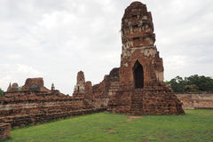 Wat Maha That, Ayutthaya, Thailand. The ruins of Wat Maha That (Temple of the Great Relics), a Buddhist temple in Ayutthaya, Thailand royalty free stock photography