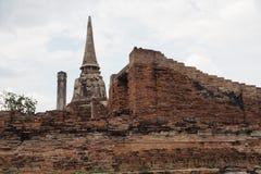 Wat Maha That, Ayutthaya, Thailand. The ruins of Wat Maha That (Temple of the Great Relics), a Buddhist temple in Ayutthaya, Thailand Royalty Free Stock Photos