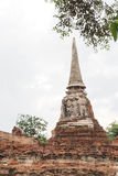 Wat Maha That, Ayutthaya, Thailand. The ruins of Wat Maha That (Temple of the Great Relics, a Buddhist temple in Ayutthaya, Thailand Stock Photos