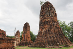 Wat Maha That, Ayutthaya, Thailand. The ruins of Maha That (Temple of the Great Relics), a Buddhist temple in Ayutthaya, Thailand stock photo