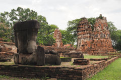 Wat Maha That, Ayutthaya, Thailand. The ruins of Wat Maha That (Temple of the Great Relics) a Buddhist temple in Ayutthaya, Thailand Stock Image