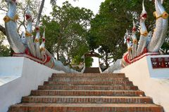 Wat Maha det eller tempel av den stora Stupaen, tempel av Luang Prabang, Laos En stad för världsarv arkivfoto