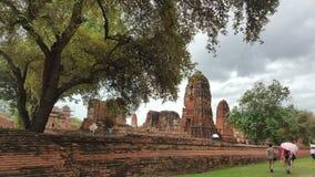 Wat Maha que Ayutthaya fotos de stock royalty free
