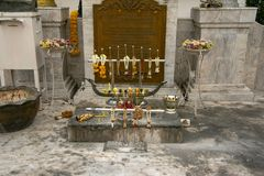 Wat Mahannapharam, Bangkok, Thailand lizenzfreie stockfotos