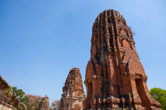 Wat Mahatat в Ayutthaya, Таиланде Стоковое Фото