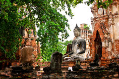 Wat Mahatat at Ayutthaya, Thailand Royalty Free Stock Images