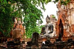 Wat Mahatat chez Ayutthaya, Thaïlande Images libres de droits