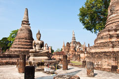 Wat mahatat sukhothai history park in thailand Stock Photo