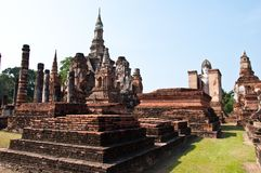 Wat mahatat sukhothai history park in thailand Royalty Free Stock Photography