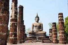 Wat mahatat sukhothai history park in thailand Royalty Free Stock Image