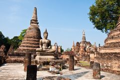 Wat mahatat sukhothai history park in thailand Stock Image