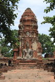 Wat Mahathat在阿尤特拉利夫雷斯 库存照片