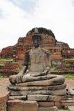 Wat Mahathat在阿尤特拉利夫雷斯 免版税库存照片