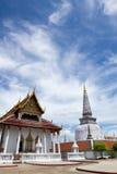 Wat Mahathat寺庙的, Nakhon Si Thammarat古老塔,南部泰国 免版税库存图片