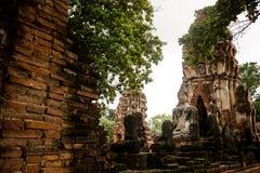 Wat Mahathat,阿尤特拉利夫雷斯,泰国 图库摄影