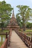 Wat Mahathat в парке Sukhothai историческом, Таиланде Стоковое Фото