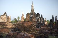 Sukhothai, Thailand, Wat Mahathat Temple Royalty Free Stock Images