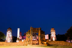 Wat Mahathat Ayuthaya Fotografia Stock Libera da Diritti