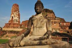 Wat Mahathat, Ayutthayaist einer des historischen ParksTempel inAyutthaya Lizenzfreie Stockfotografie