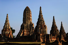 Wat Mahathat Ayutthaya Ταϊλάνδη Στοκ φωτογραφίες με δικαίωμα ελεύθερης χρήσης