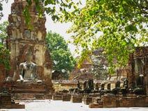 Wat Mahathat, Ayutthaya, Таиланд Стоковые Изображения RF