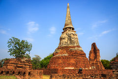 Wat Mahathat in Ayutthaya Stockbilder