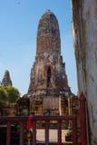 Wat Mahathat in Ayutthaya Stock Afbeelding