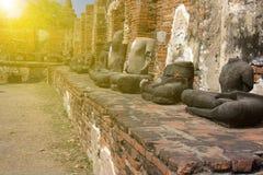 Wat Mahathat, Ayutthaya Fotos de archivo libres de regalías
